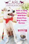 Nourish with Love! CARU Soft 'n Tasty Baked Bites Wild Boar Grain-Free Dog Treats Review!