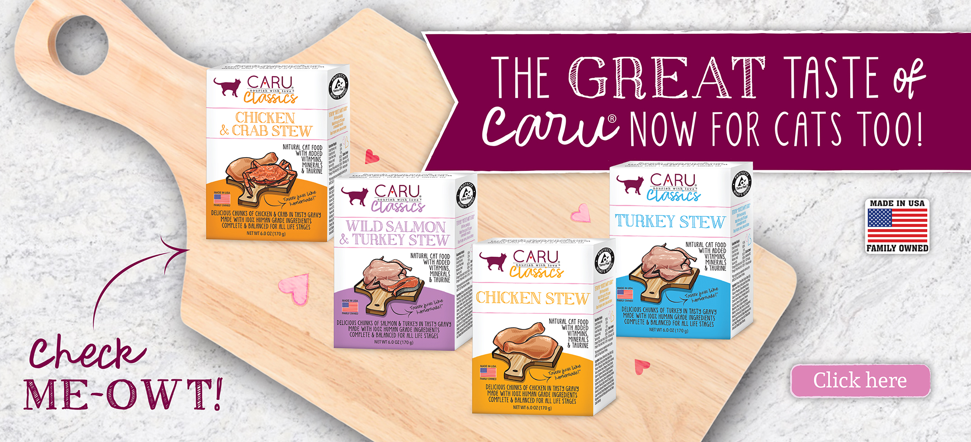 The great taste of Caru now for cats too!